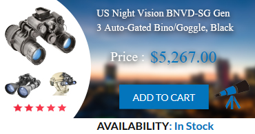Night Vision Googles : US Night Vision BNVD-SG Gen 3 Auto-Gated Bino/Goggle, Black