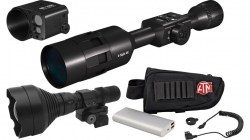 ATN X-Sight 4K 5-20 Day Night Master Kit Battery Pack w IR Illuminator and Ballistic Laser-24