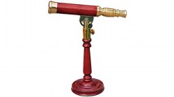 Barska AnchorMaster 15-45x50 Brass  Mahogany Spy Glass - Handcrafted w  Desktop Pedestal AA10614A