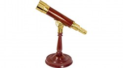 Barska AnchorMaster 15-45x50 Brass  Mahogany Spy Glass - Handcrafted w  Desktop Pedestal AA10614