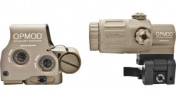 OPMOD EOTech Hybrid IOP Holosight w 3x G33 Magnifier, Tan, Night Vision Compatible HHS-1 OP