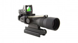 Trijicon ACOG 3x30 Scope, Dual Illuminated Amber Chevron.223 Ballistic Reticle